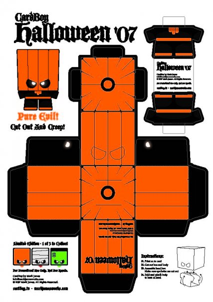 Halloween Paper Craft Templates  Ye Craft Ideas