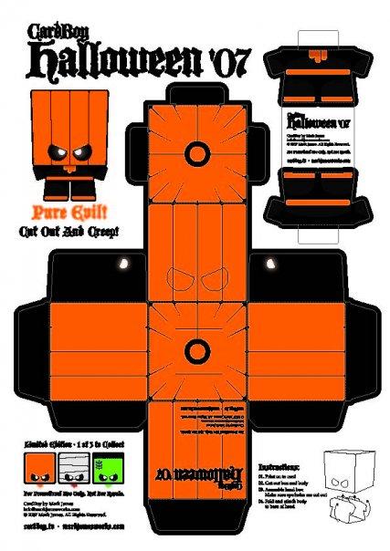 Halloween Paper Craft Templates