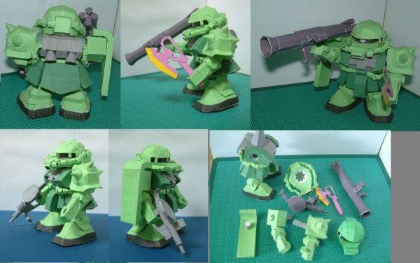 Gundam MS 06F Zaku II SD
