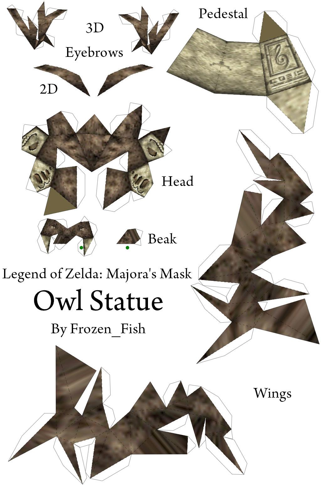 Owl paper craft template images craft decoration ideas owl statue po archives download jeuxipadfo images jeuxipadfo Choice Image