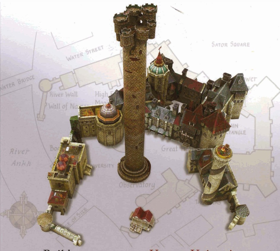 information type papercraft model the unseen university from discworld ...