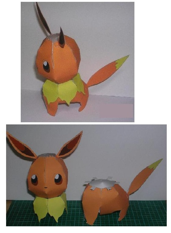 Pokemon Origami Eevee Easy but Cute Tutorial | How to Make a Paper ... | 766x561