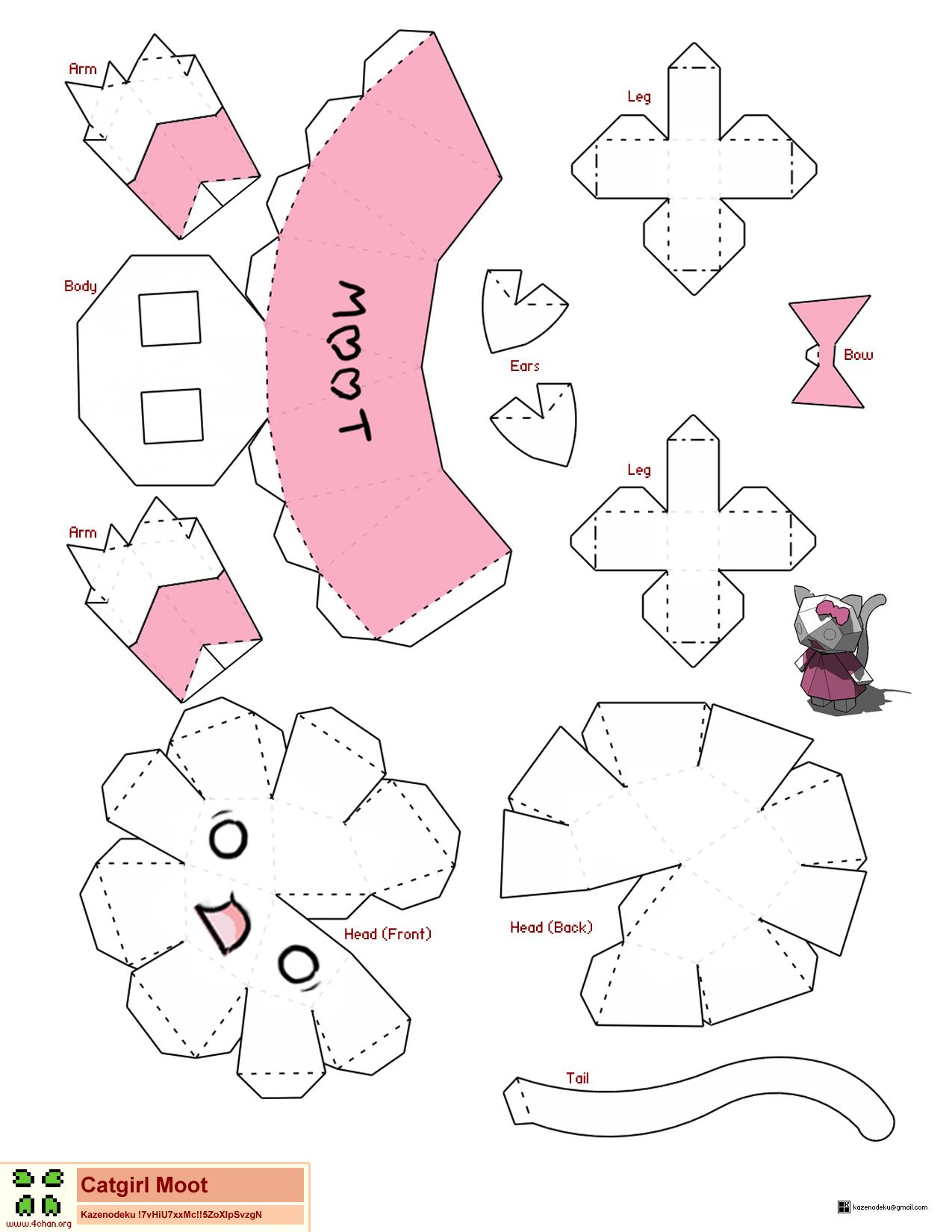 cybergata more on meme paper craft